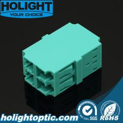 El conjunto de la fibra óptica LC OM3 Quad Acoplador de fibra óptica/Adaptador