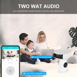 IP HD 1080p 4x Zoom numérique audio bidirectionnelle imperméable Cloud Web USB caméra PTZ sans fil WiFi de la batterie
