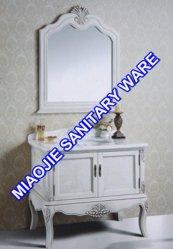 100см старинные деревянные/дуба туалетный столик в ванной комнате (MJ-425)