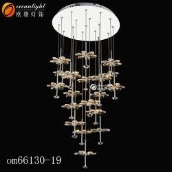 新製品の水晶天井のシャンデリアの空想の水晶ペンダント灯Om923
