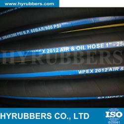 Tubo flessibile di gomma flessibile dell'acqua dell'aria del tubo flessibile con il tessuto del cavo