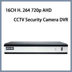 16CH H. 264 720p AHD Video CCTV Security webcamera DVR
