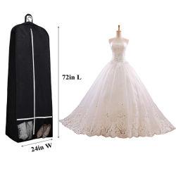 Il sacchetto di indumento nuziale non tessuto, personalizza il sacchetto lungo dell'imballaggio di memoria dell'abito di Eco del rinforzo della casella del pattino da cerimonia nuziale del vestito di ballo del coperchio antipolvere pieghevole durevole all'ingrosso del vestito