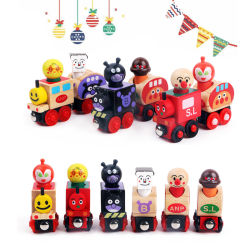 子供の木のクリスマスのギフトトマスの列車車は教育おもちゃを妨げる