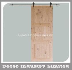 3 panneaux non finis rustique Knotty porte en bois de l'intérieur de l'Aulne Grange