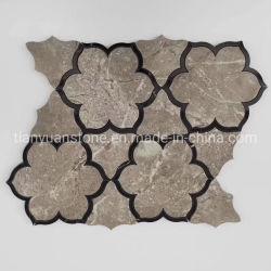 지면 훈장을%s 꽃 그림을%s 가진 자연적인 대리석 예술 모자이크