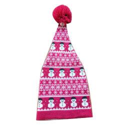 Леди из жаккардовой ткани Xmas снежную бабу зимняя фэшн теплый Red Hat винты с головкой