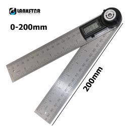デジタルディスプレイ 200mm ユニバーサルステンレススチールスクエア高精度角度計 角度 - ルーラー