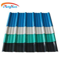 Teja PVC Aislada del Material Plástico Antioxidante Teja Termoacustica UPVC