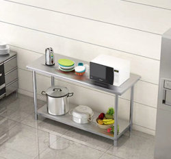 Double-Layer и Three-Layer нержавеющая сталь рабочий стол чист и кухня гостинице загрузка стола рабочего стола полки