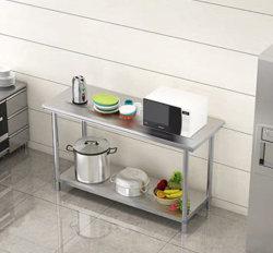 Doble capa y mesa de trabajo de acero inoxidable Three-Layer Cocina Hotel especial mesa de trabajo de la tabla de carga