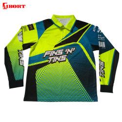 Aibort Qualidade Alta Dri Fit Mens Desgaste de desportos de Manga Longa camisa Polo (L-LP-07)