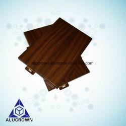 Du grain du bois peint Panneau en aluminium solide mur-rideau