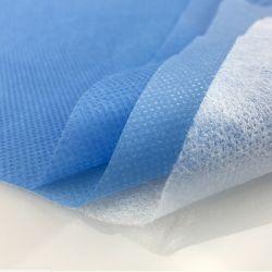 SMS Compund tissu non tissé pour l'isolement des blouses, blouses avec preuve de l'eau parfaite en bloquant les bactéries