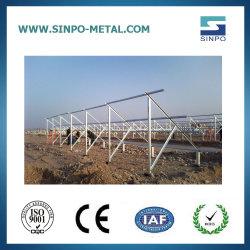 Soportes de montaje de tierra de acero galvanizado para sistema de Energía Solar