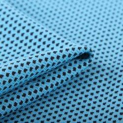 Poliéster reciclado Quick-Drying microfibra, tejido de malla de tela de toalla de hielo Deportes
