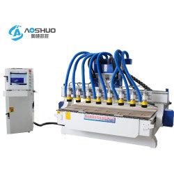 다양한 종류의 멀티 스핀들 CNC 목재 조각 라우터 기계