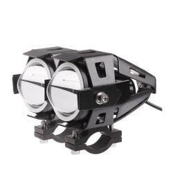 Super heller U7 LED Motorrad-Punkt-Nebel-Lampen-weißes Licht-Transformator-Bewegungsprojektor des Motorrad-Scheinwerfer-12V mit Engels-Augen