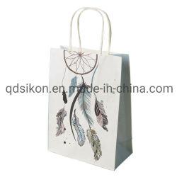 Оптовая торговля элегантной подарочной упаковки Bag белый бумажный мешок с печать