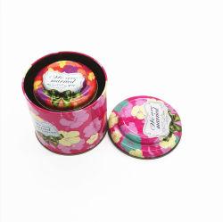 Scellés de l'étain Boîte avec couvercle intérieur ronde thé d'anniversaire de mariage de bonbons de sucre de l'étain peut