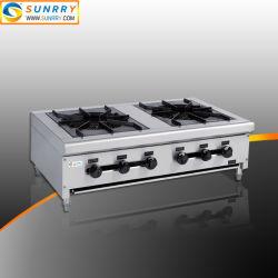 Una gran potencia industrial comercial gama de cocina de gas superior