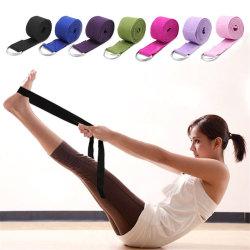 180cm multicolores Yoga estirar la tira D-Ring Gimnasio Fitness cinturón de cuerda, la figura de la cintura de la resistencia de la Pierna de bandas de Fitness Yoga las órdenes de correa3