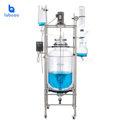 Laboao China Pharmazeutische Chemische Labor Ummantelt Glasreaktor Equipment Preis