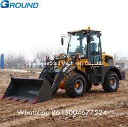 chargement frontal 1.5ton tractopelle multifonctionnelle//mini-chargeur/chargeuse à roues avec la benne et digger pour la construction/ferme/forest utilisé