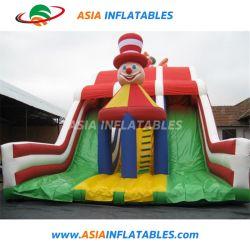 Привлекательные надувные клоун тема слайд с двумя полосами движения