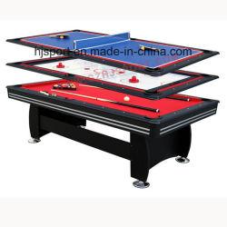 1つのゲーム表に付き3つ: 改宗者の空気ホッケーおよび卓球の上が付いているビリヤード台