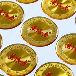 Goldheißer stempelnder gedruckter Firmenzeichen-Epoxidharz-Abdeckung-Aufkleber