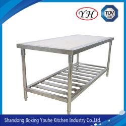Cocina comercial utiliza Acero Inoxidable Workbench Corner mesa de trabajo