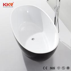 Superficie sólida cultivadas bañera bañera de patas de mármol negro