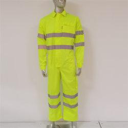 Duurzame, goed zichtbare fluorescerende gele stof Werkkleding beschermende buitenkant Overall voor de bouw/fabriek