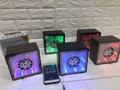 Desktop Mini Speaker Portable Audio Speaker Bluetooth Wireless Speaker Music Speler met kleurrijke Flash Light USB FM Radio Cube