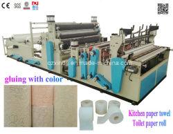Full-Automatic DOT-par-DOT Rembobinage à grande vitesse et perforé et une serviette de papier toilette Machine à papier