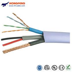 Le câble composite RG59+Cat5e+2c Câble combo RG59 plus Cat5e avec 2 câble d'alimentation