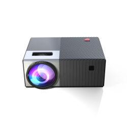 プロジェクター組み込みのスピーカーWiFi LCD LED完全なHDの小型マルチメディアプロジェクターとの新しいデザインホームシアターの催し物