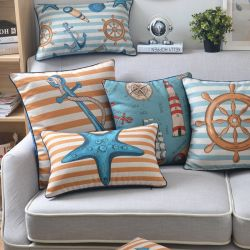 Yrf Cotton Linnen Rectangle Pastoral Style Plant En Vlinder Kleurrijke High Queulity Sofa Gooien Kussen