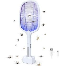 Fly Fly Swatter eléctrico Mosquito Killer raqueta y asesino de mosquitos raqueta Zapper para interiores y exteriores de la luz