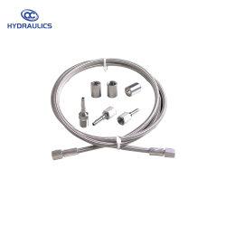 Tresse de fils en acier inoxydable renforcé lisse Flexible PTFE/flexible sanitaire