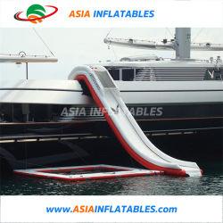 Красный цвет гигантские надувные взрослых яхты водными горками для продажи