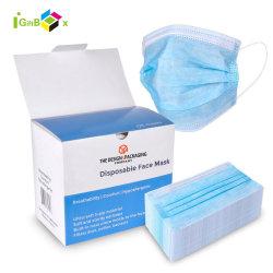 50 PCS 3개 가닥 의학 외과 가면 상자를 포장하는 처분할 수 있는 가면