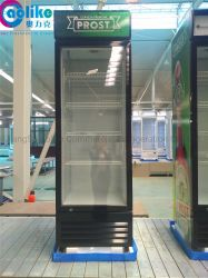 OEMの霜のBeer&Yogurtのための工場からの明るいLEDライトが付いているガラスドアの表示スリラー