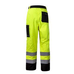 Conception personnalisée Pantalon de travail réfléchissant jaune orange