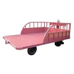 Entrepôt de l'aéroport de chariot à bagages remorque