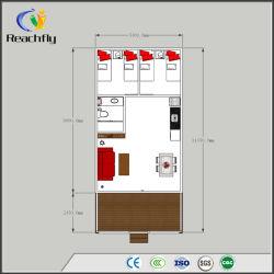 De lage Kosten assembleren Draagbaar Mobiel Huis met de Decoratieve Comités van de Muur