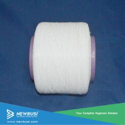 Veerkrachtige Elastische Spandex/RubberGaren van China, Grondstof van Hygiënisch Product