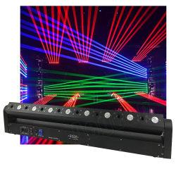 DJ лазерный перемещение головки блока цилиндров 8 Глаза красный лазерный луч + 8X3w LED клуб бар лазера
