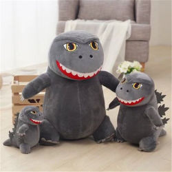 Q Version de Godzilla Doll Dinosaur petit monstre un jouet en peluche Cartoon roi de monstres Doll